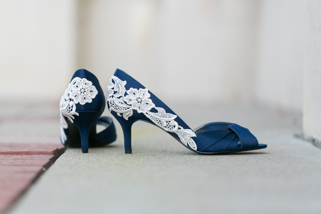 Wedding shoes navy blue wedding heelsbridal shoes navy zoom junglespirit Image collections