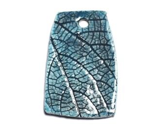 N70 - porcelain ceramic Nature pendant leaf blue Turquoise - 8741140004535 52mm