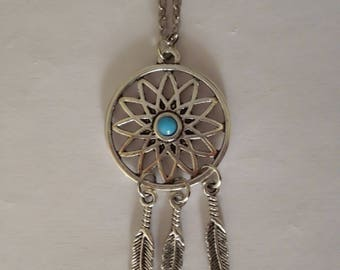 Dream catcher pendant necklace. possibility set with earrings to order