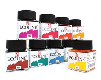 6 bottle of Ecoline Liquid Watercolour by Talens Royals