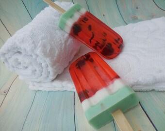 Watermelon Soap - Popsicle Soap - Watermelon Scented Soap - Ice Cream Soap - Pool Party Favor - Fruity Soap - Baby Shower Favor - Soap Favor