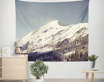 White Mountain Wall Tapestry, Mountain Tapestry, Nature Tapestry, Large Wall Art, Rocky Mountains Tapestry, Colorado Mountains