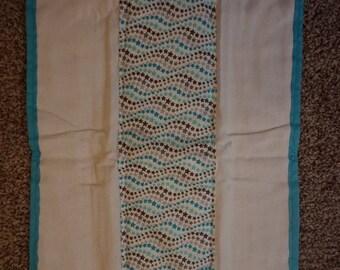 Aqua/grey stars burp cloth