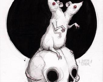 rats and rats and rats - ORIGINAL - 5x7