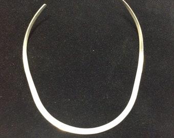 Sterling Formed Omega Necklace
