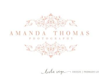 Premade Photography Logo - Ornate Pink Floral Logo