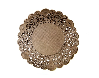 Doily Paper Round Doilies Doily Lace Card making Decoration 3.5 inch Brown