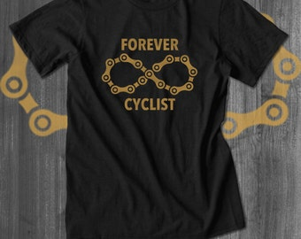 Forever Cycling Love T shirt bicycle tops and tees t-shirts  Free Shipping