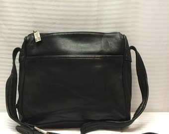 Tignanello, Black Leather Purse, Shoulder Bag, Purse, Bag