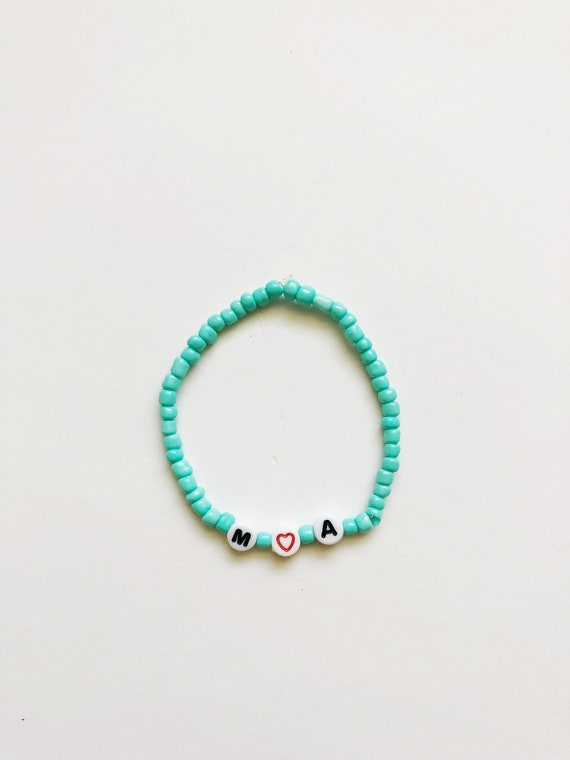Personalized Beaded Stack Bracelet