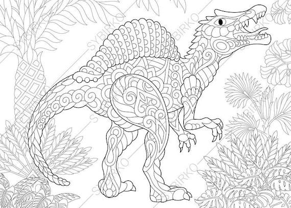 Kleurplaat Jurassic World Indominus Rex Spinosaurus Dinosaur Dino Coloring Pages Animal Coloring