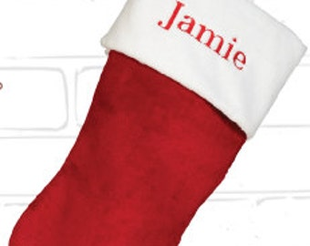 Christmas Stocking Personalized FREE - very plush.  High quality Christmas stocking. FREE SHIPPING!!!