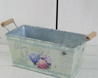 Vintage Style garden planter Flower Trough small, gift for gardeners, parisian style flower pot, garden accessories