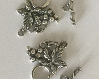 Antique Pewter Toggle Set