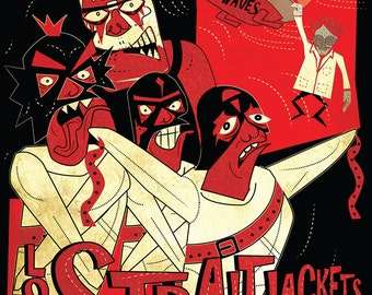 Los Straitjackets A2 gig poster on Heavyweight paper