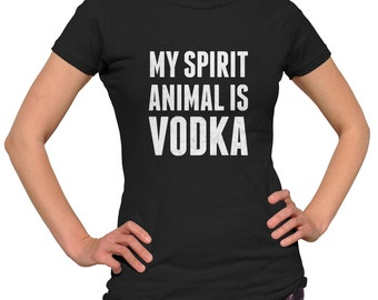 My Spirit Animal is Vodka Shirt - Bartender Shirt - Funny Drinking Shirt - Alcohol Shirt - Bartender Gift (See SIZING CHART in Item Details)