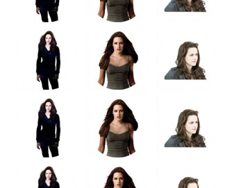 12 x Bella Swan Edible Stand Up Wafer Cake Cupcake Toppers