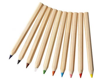 10 Chunky Personalised Colouring Pencils