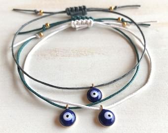 Evil Eye Bracelet, Protection Bracelet, Bracelet Evil Eye, Bracelets for Women, Thread Bracelet, Blue Evil Eye Bracelet, Evil Eye