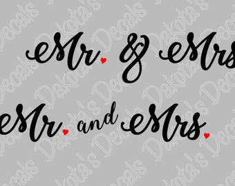 Mr. and Mrs. SVG/DXF/PNG for Download