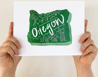 Oregon State Print