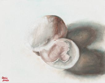 "Eggs Oil Painting Still Life 11""x14"" on canvas panel"
