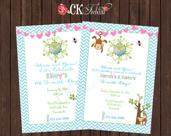 Earth Day Birthday Party Invite