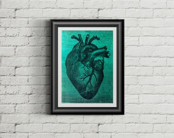 Way to my Heart - Giclee Fine Art Print of Mixed Media Painting