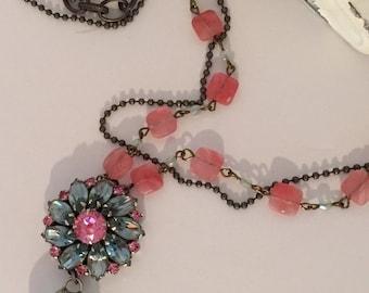 New World Vintage, Vintage Assemblage Necklace, Upcycled, Steampunk, Boho