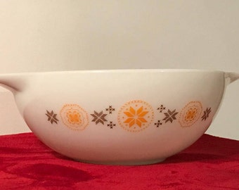 Vintage Pyrex White Opal Town and Country Pyrex