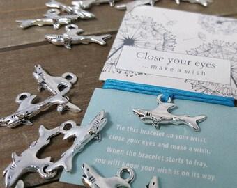 Shark Bracelet, Shark Jewelry, Shark Wish Bracelet, Shark Friendship Bracelet, Shark Gift, Shark Charm, Shark Week Gift, Shark Lover Gift