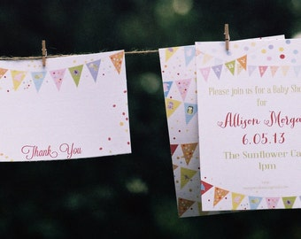 Pennant Thank You Notes