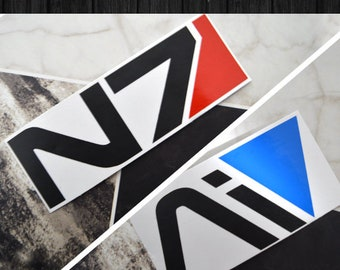Mass Effect - N7 and Andromeda Initiative Vinyl Decal Stickers   One or Two Color options