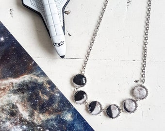 Moon Phase Necklace // Moonphase Jewelry // Moon Necklace // Moon Jewelry //Space Jewelry // Solar System
