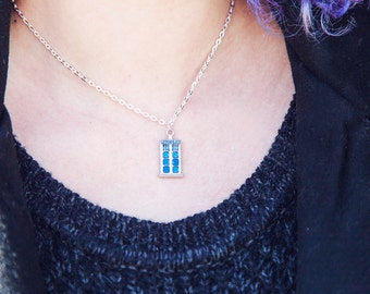 Police box necklace