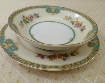 Rare Meito China Of Japan Pattern MADRID Small Bowl and Plate