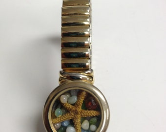 Repurposed Upcycled/Recycled Beach Watch Bracelet W6