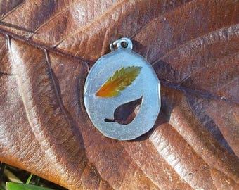 Real Leaf Resin Necklace