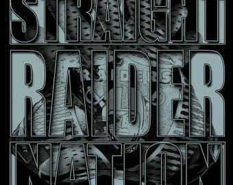 STRAIGHT RAIDER NATION custom design and manually printed Hoodie