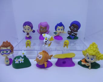Mister A Gift Bubble Guppies set of 12 plastic Cake Toppers