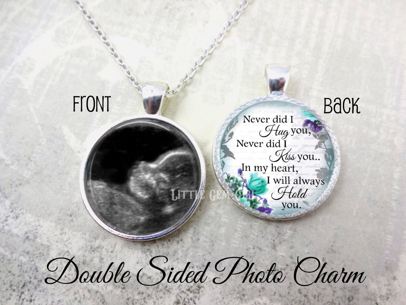 hearts memory original products our hear necklace in miscarriage little jewelry photo forever peanut
