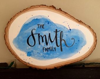 Family Name Wooden Slab