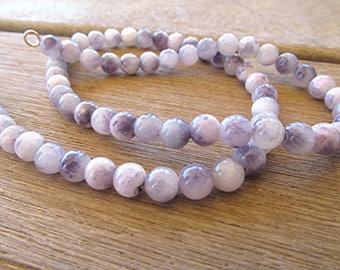 Purple gemstone necklace gemstone beaded necklace gemstone choker boho necklace gemstone necklace gift for her.