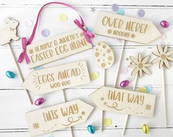 Easter Egg Hunt For Children Personalised Wooden