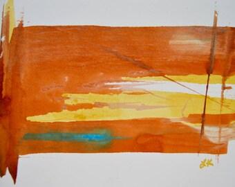 Original mini desk office art painting 6x9