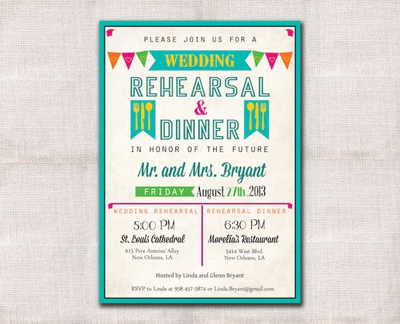 Who Do You Invite To Wedding Rehearsal Dinner: Fiesta Wedding Rehearsal Dinner Invitation Custom Printable