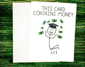 Funny High School Graduation Card - Money Holder College Graduation Money Card Funny Congratulations Card Funny Graduation Card Funny Co