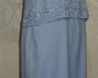 R&M RICHARDS LIGHT BLUE size 8-10 Petite Mother Of The Bride Dress
