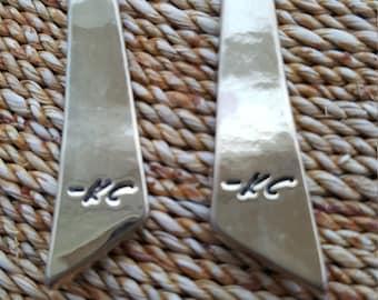 Long kenneth Cole/ K.C./KC  Geometric Gold Earrings