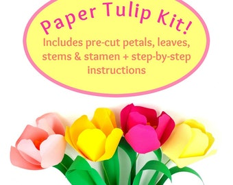 DIY Paper Tulip Kit